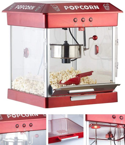 Machine pop-corn avec cuve