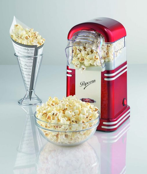 Machine pop corn rouge